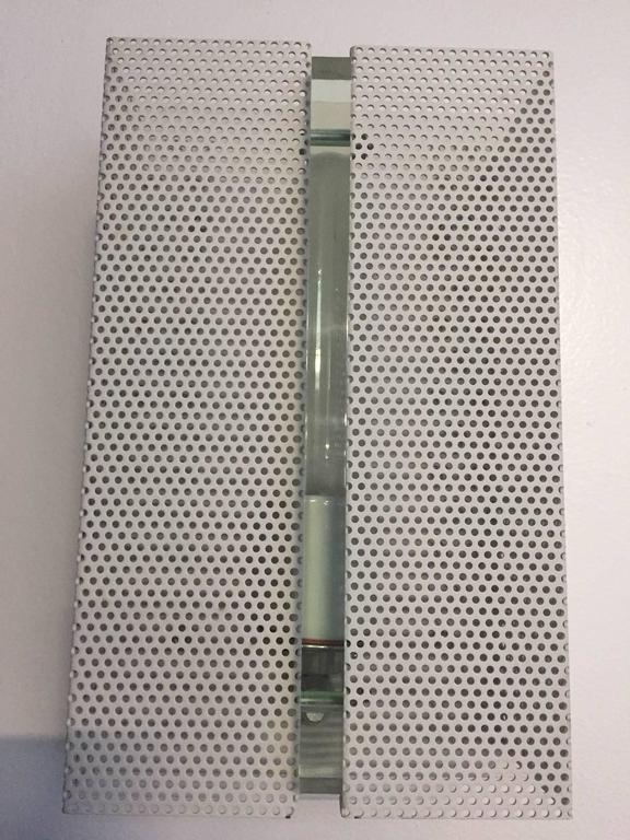 Wall Sconce with Perforated Metal For Sale 2