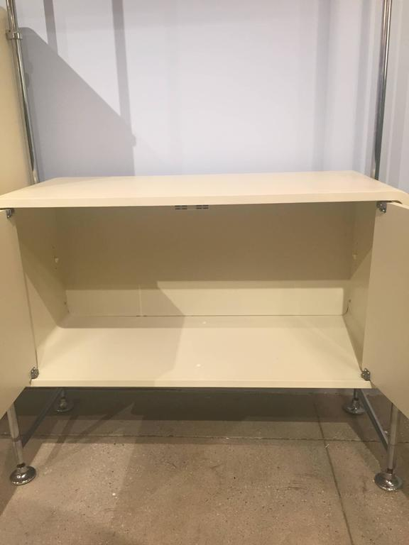 Painted Modular Shelving Unit For Sale