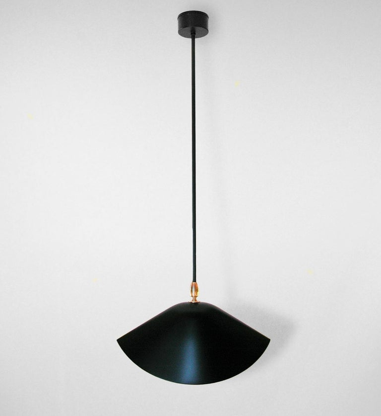 Mid-Century Modern Serge Mouille Library Ceiling Lamp For Sale