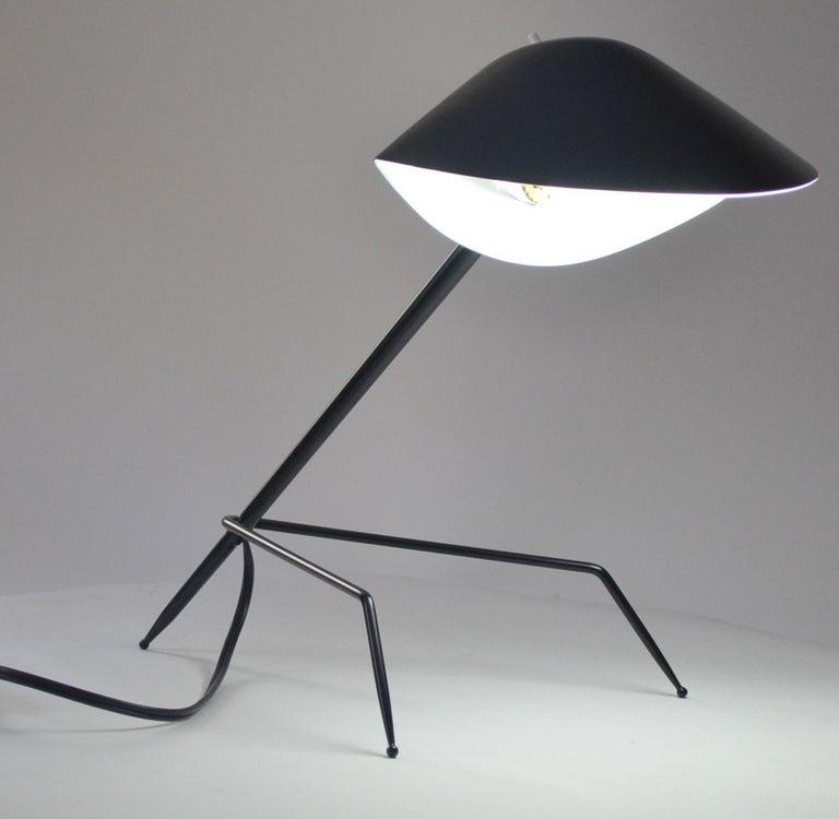 Mid-Century Modern Serge Mouille Tripod Desk Lamp For Sale