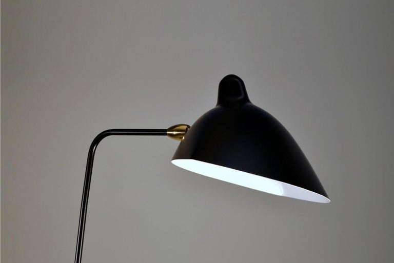 French Standing One-Arm Lamp by Serge Mouille For Sale