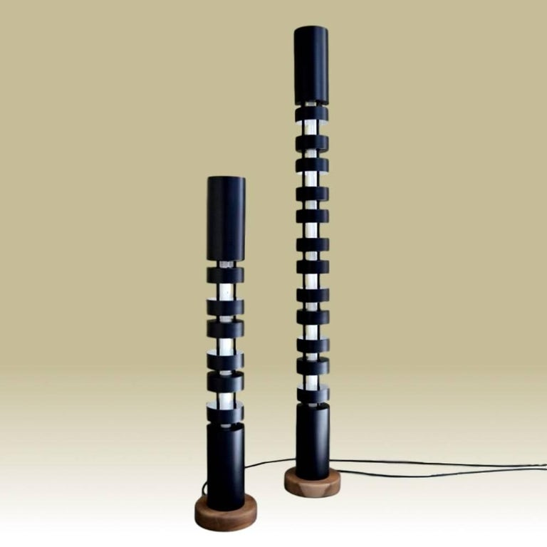 Large totem standing lamp by serge mouille for sale at 1stdibs Serge mouille three arm floor lamp