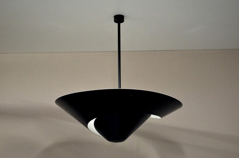 French Large Snail Ceiling Lamp by Serge Mouille For Sale