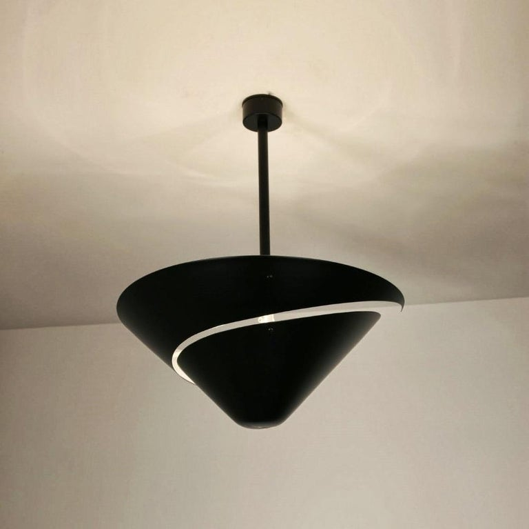 Large Snail Ceiling Lamp by Serge Mouille In Excellent Condition For Sale In Brooklyn, NY