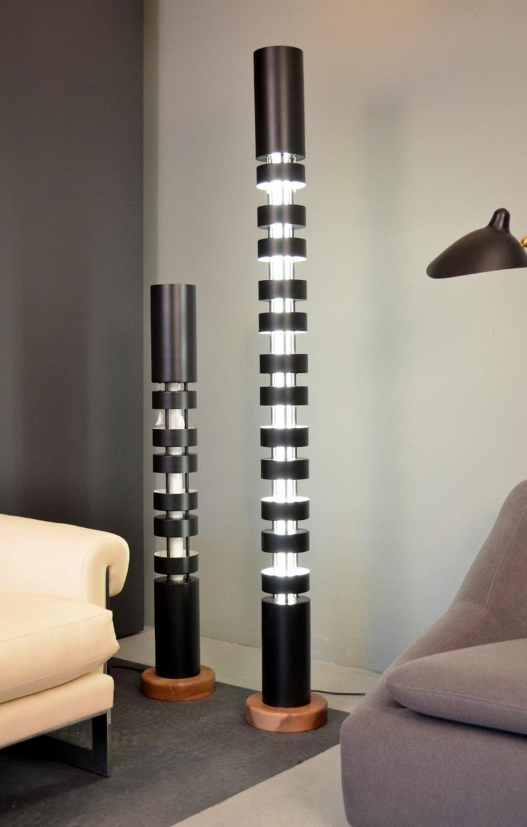 French Large TOTEM Standing Lamp by Serge Mouille For Sale