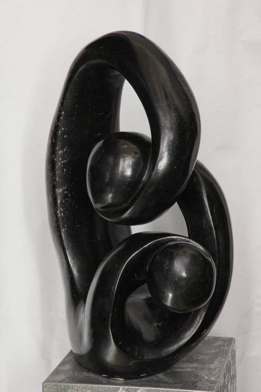 North African Shona African Modernist Marble Sculpture, Signed Edmore Makotore For Sale