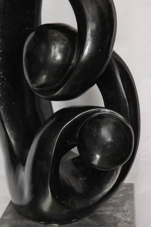 Hand-Carved Shona African Modernist Marble Sculpture, Signed Edmore Makotore For Sale