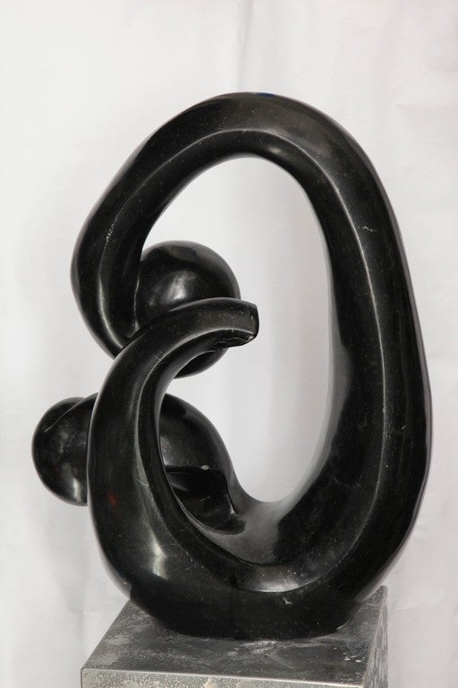 Late 20th Century Shona African Modernist Marble Sculpture, Signed Edmore Makotore For Sale