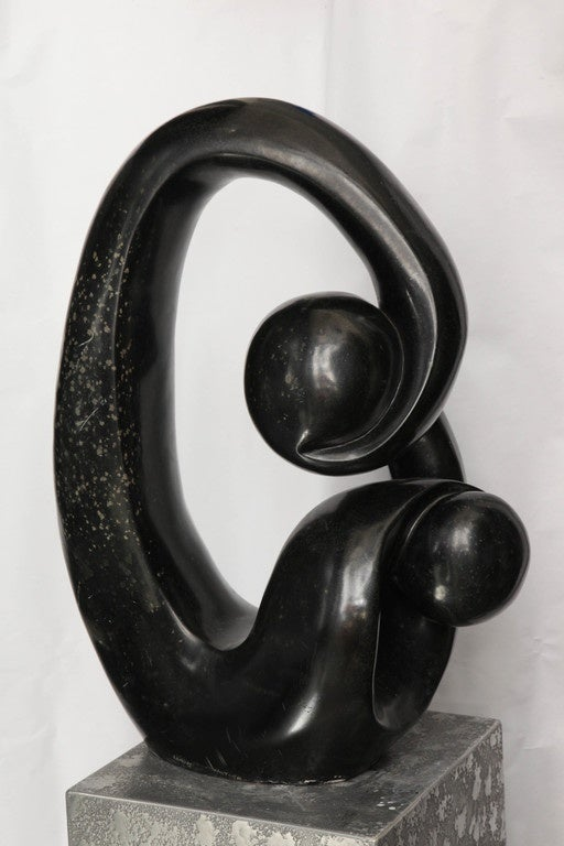 Shona African Modernist Marble Sculpture, Signed Edmore Makotore For Sale 2