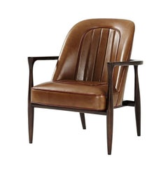 Midcentury Mahogany Accent Chair