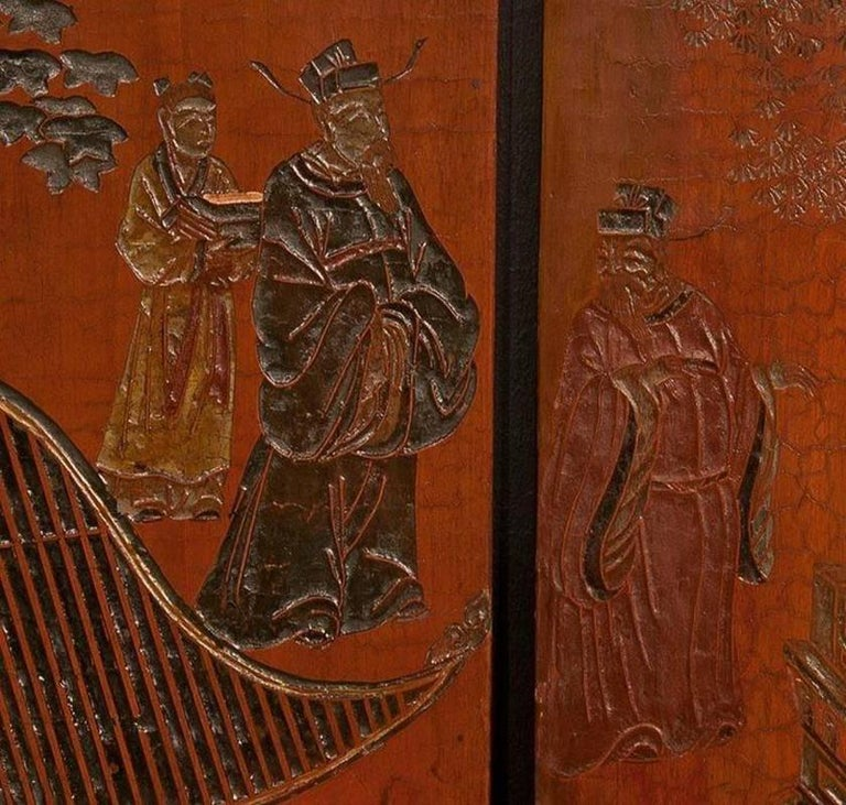 Exceptional and Rare 17th-18th Century Twelve-Panel Chinese Coromandel Screen In Good Condition For Sale In Port Chester, NY