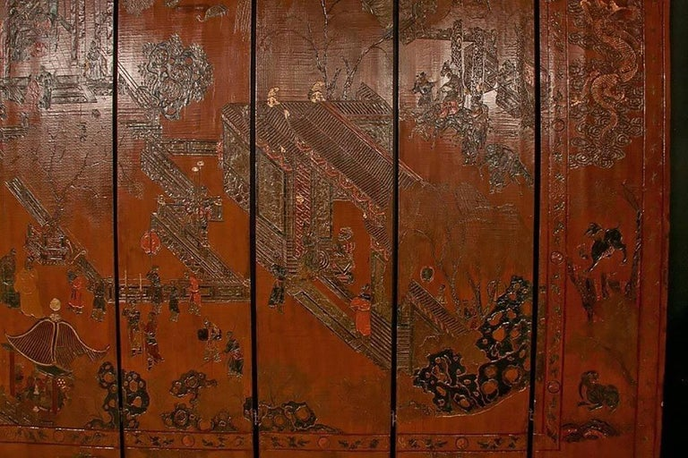 17th Century Exceptional and Rare 17th-18th Century Twelve-Panel Chinese Coromandel Screen For Sale