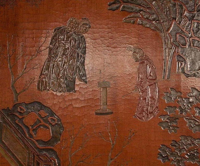 Wood Exceptional and Rare 17th-18th Century Twelve-Panel Chinese Coromandel Screen For Sale