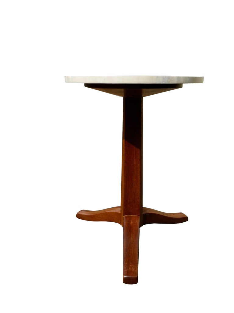 This mahogany gueridon was designed by Edward Wormley in the 1950s for Dunbar Furniture.