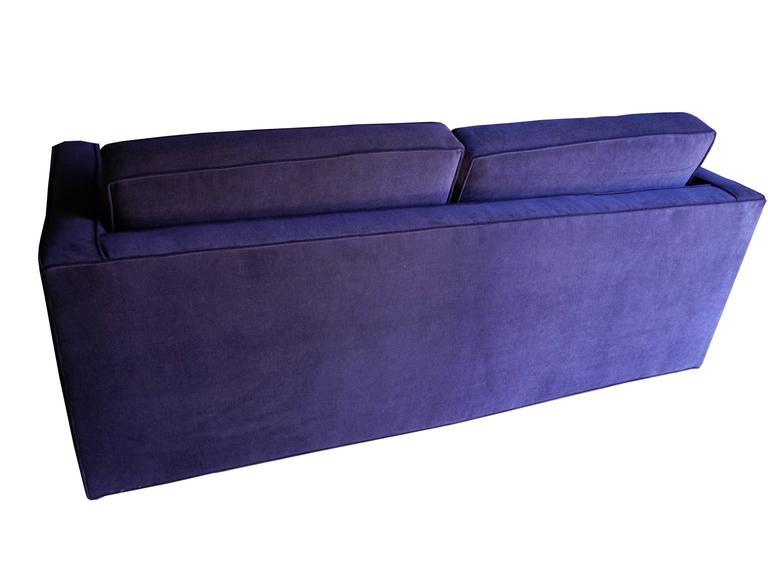 Mid-Century Modern Purple Velvet Sofa / Settee by Charles Pfister for Knoll 5