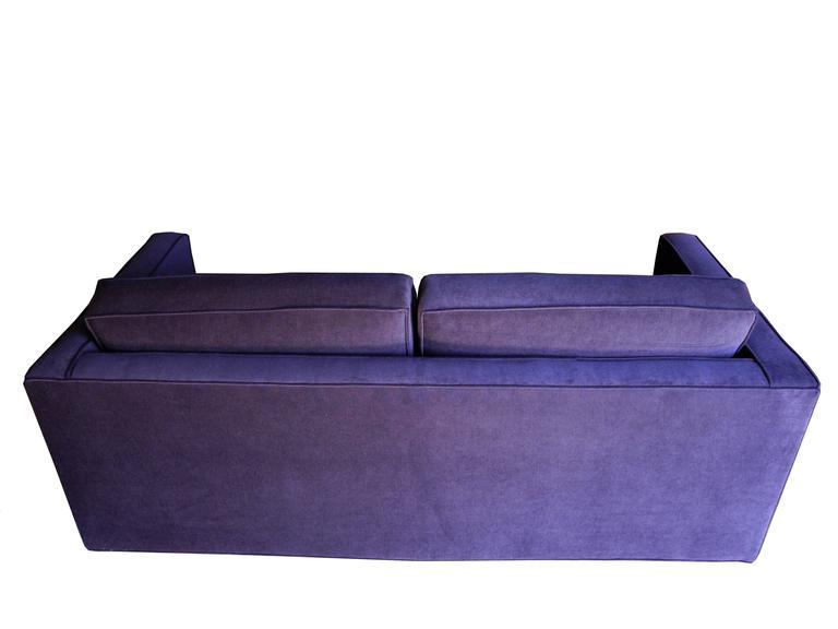 Upholstery Mid-Century Modern Purple Velvet Sofa / Settee by Charles Pfister for Knoll For Sale
