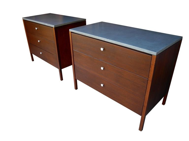 walnut dressers, nightstands with polished concrete topsflorence Nightstand Dresser