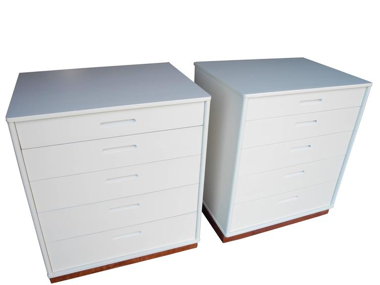 American Modern Matching Nightstands or Dressers Designed by Edward Wormley for Dunbar For Sale