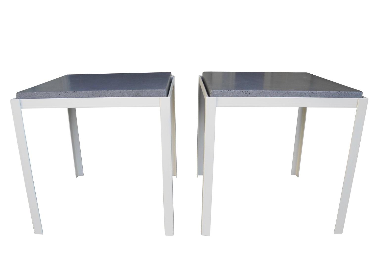 Polished Concrete And Welded Steel Night Stands Coffee Tables Corinne Robbins For Sale At 1stdibs