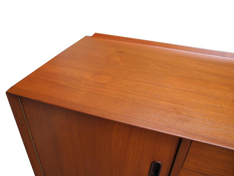 Danish Mid-Century Modern Teak, Drawers and Cabinet Sideboard by Arne Vodder For Sale 2