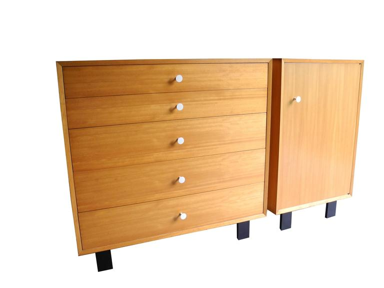 Dresser And Cabinet In Primavera Mahogany By George Nelson