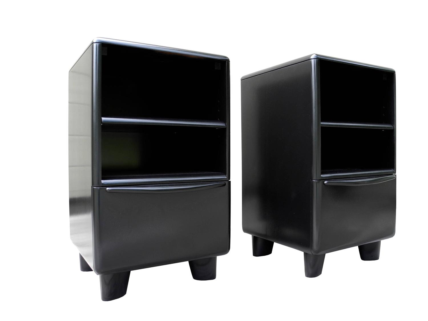 Mid century modern organic black heywood wakefield for Modern nightstands for sale
