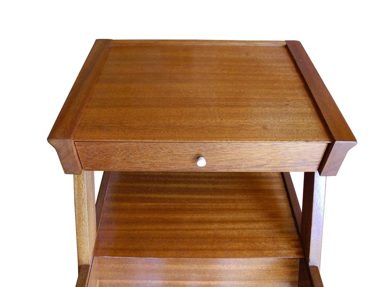 Magazine side table with drawer in mahogany by john keal for 13 a table magasin