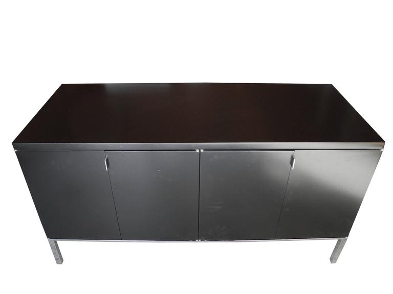 Credenza Contemporary : Black vintage mid century modern credenza in the style of florence