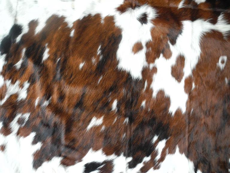 Brindle Black And Brown Spot Brazilian Cow Hide Rug At 1stdibs