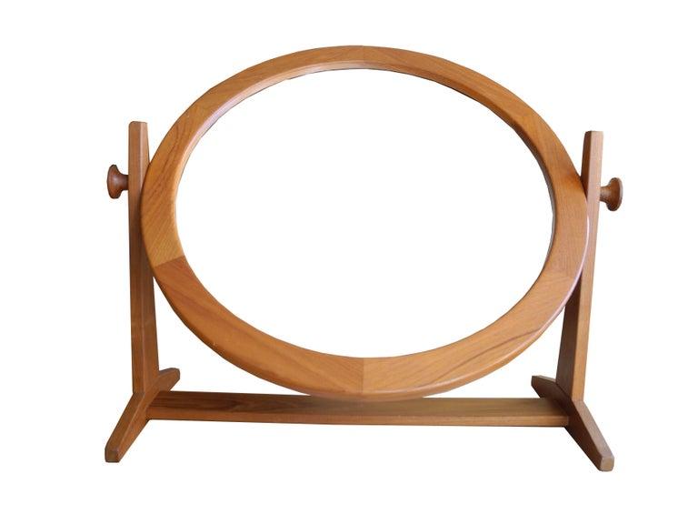 Scandinavian Modern Danish Modern Tilting Teak Table Mirror by Pedersen & Hansen, 1960s For Sale