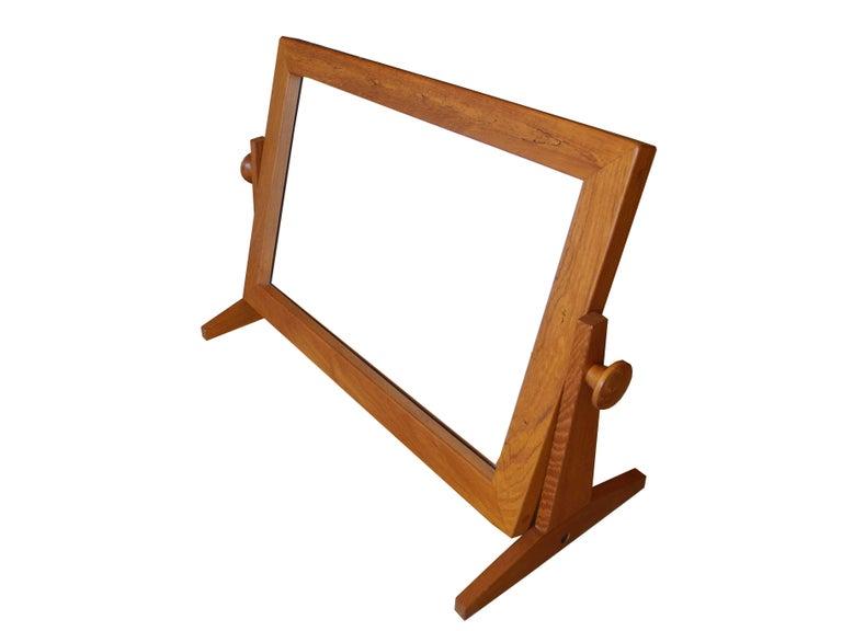 Danish Modern Tilting Teak Table Mirror by Pedersen & Hansen, 1960s For Sale 4