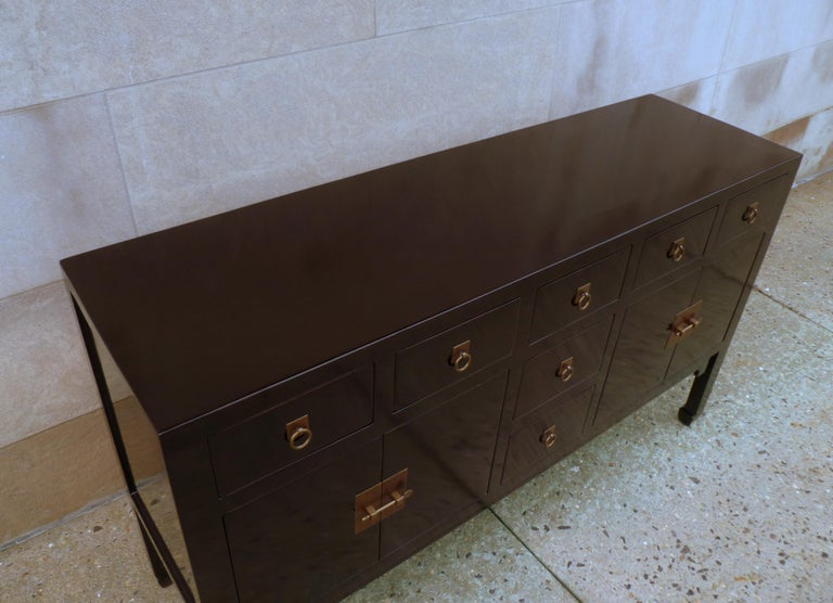 Fine Black Lacquer Sideboard or Console Table For Sale 1
