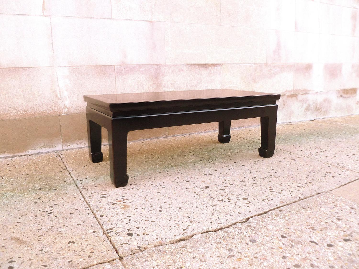 Fine Black Lacquer Low Table With Gold Gilt Landscape Motif For Sale At 1stdibs