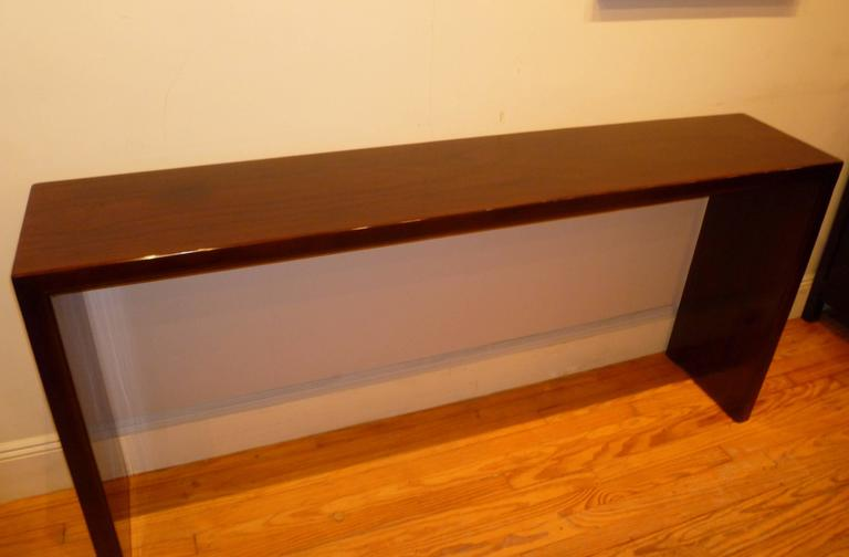 Ming Fine and Elegant Ju Mu Wood Console Table For Sale