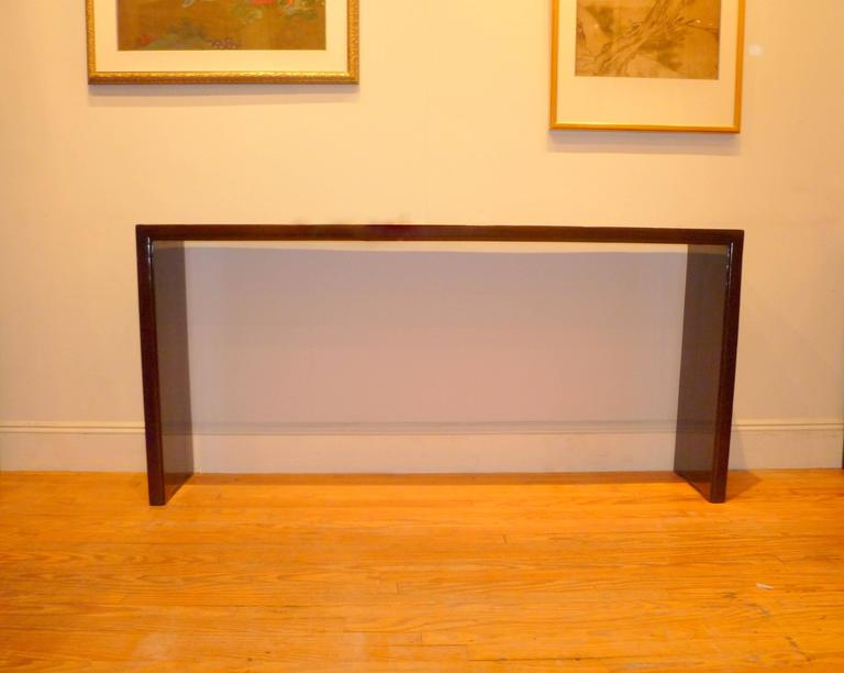 Polished Fine and Elegant Ju Mu Wood Console Table For Sale