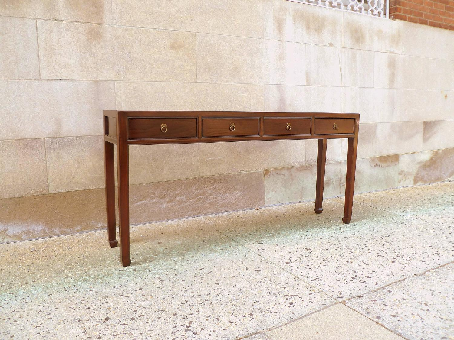 Marvelous photograph of Fine Ju Mu Wood Console Table with Drawers at 1stdibs with #6B3B24 color and 1500x1125 pixels