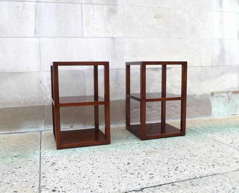 Ming Pair of Fine Jumu End Tables  For Sale