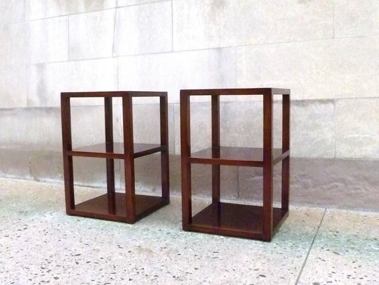 Chinese Pair of Fine Jumu End Tables  For Sale