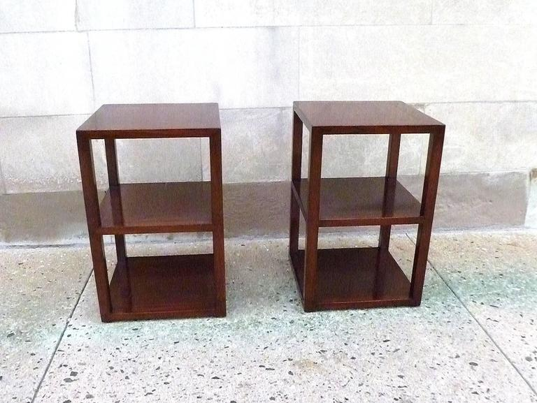 Pair of Fine Jumu End Tables  In Excellent Condition For Sale In Greenwich, CT