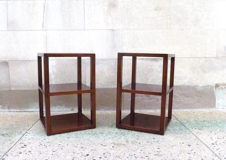 Mid-20th Century Pair of Fine Jumu End Tables  For Sale