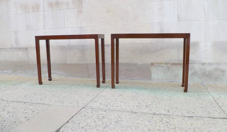 Ming Pair of Fine Jumu Console Tables For Sale
