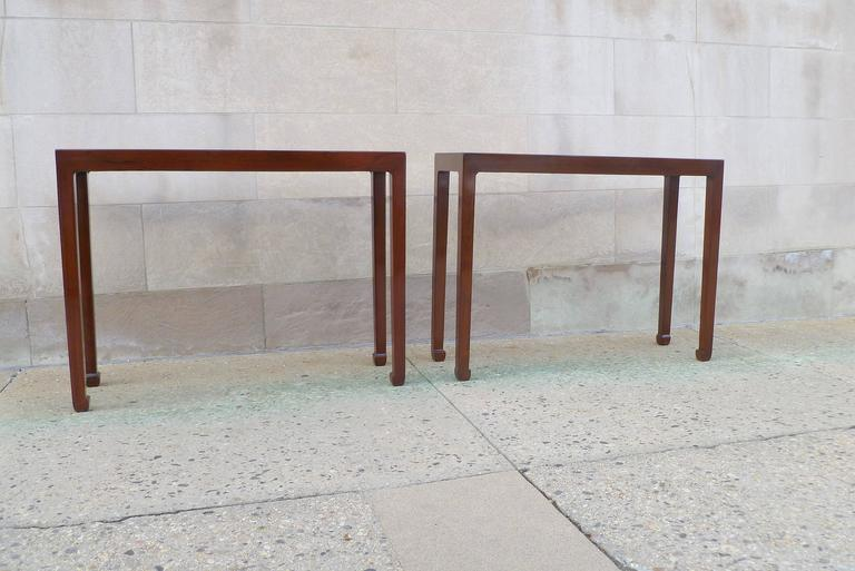 Chinese Pair of Fine Jumu Console Tables For Sale
