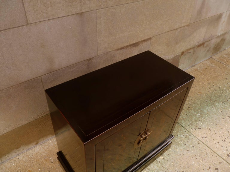 Fine Black Lacquer Chest with Gilt Motif For Sale 1