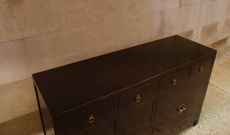 Mid-20th Century Fine Black Lacquer Sideboard For Sale