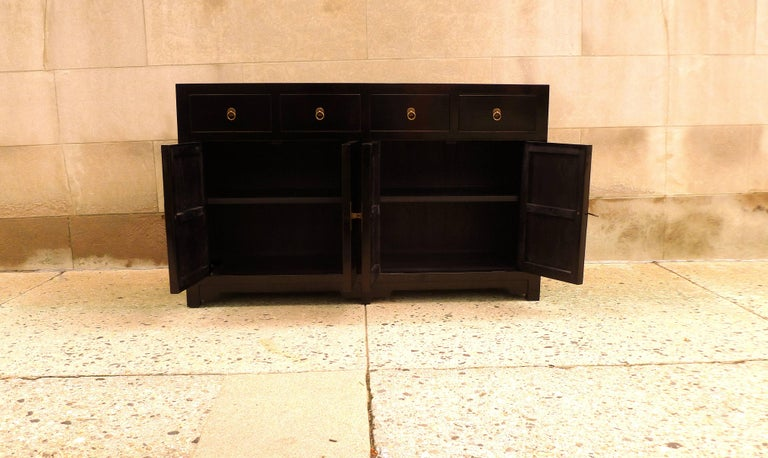 Fine Black Lacquer Sideboard For Sale 1