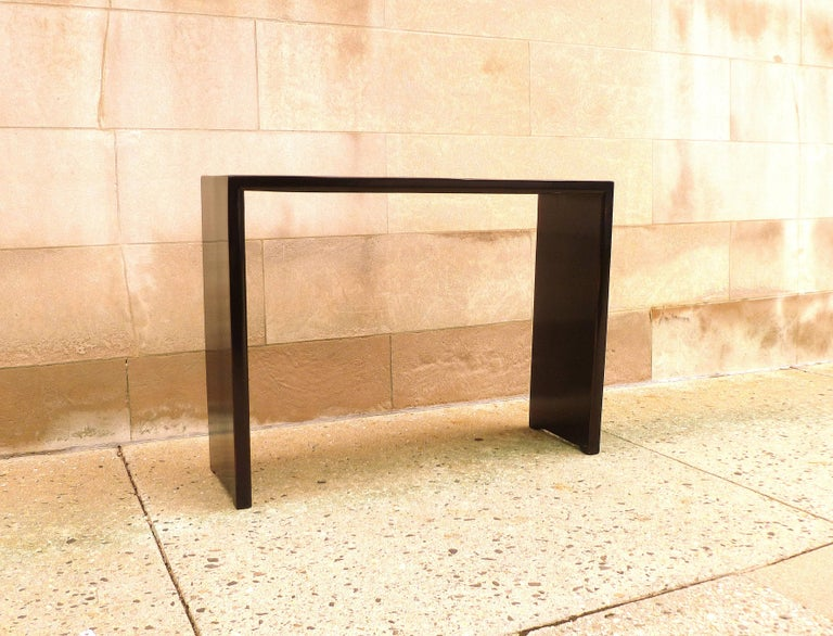 Fine Black Lacquer Console Table In Excellent Condition For Sale In Greenwich, CT