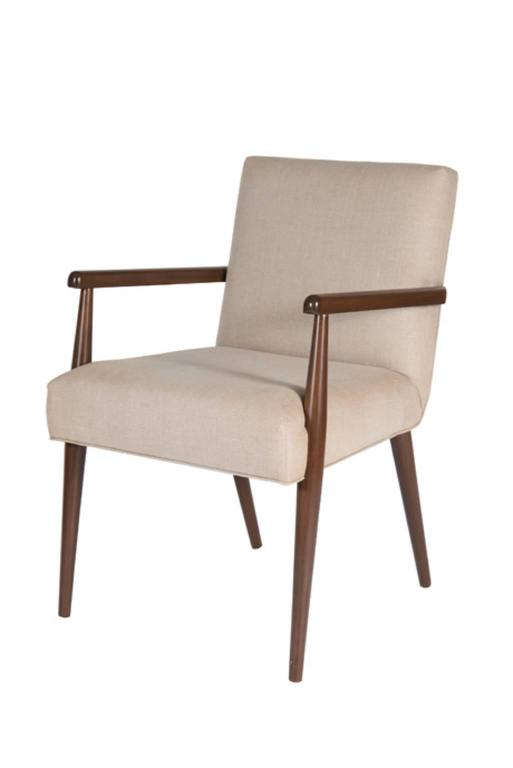 Sheppard Dowel Leg Arm Dining Chair 4