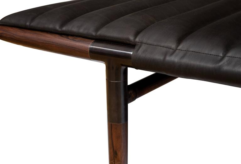 Erickson Aesthetics  Rosewood Daybed in Horween Leather 4