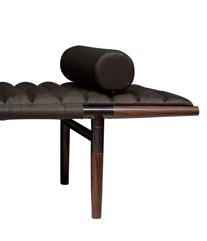 Erickson Aesthetics  Rosewood Daybed in Horween Leather 5