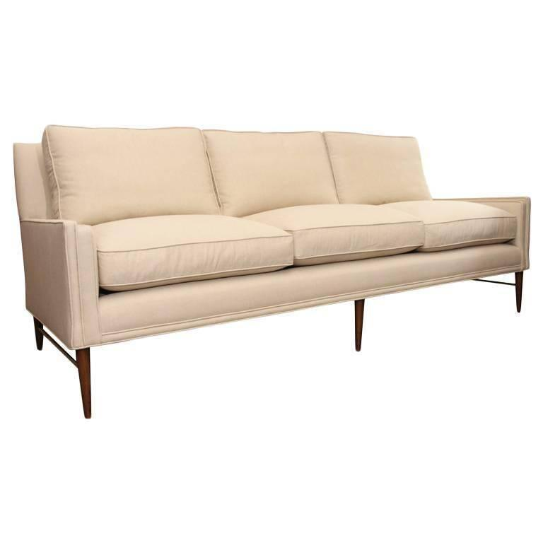 Paul McCobb Directional Sofa on Brass Stretcher Base